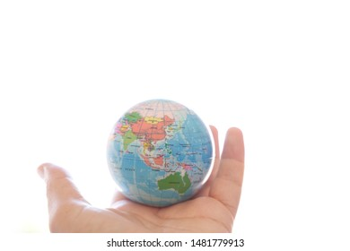 The Globe of the World in the Hand on the Day of Peace