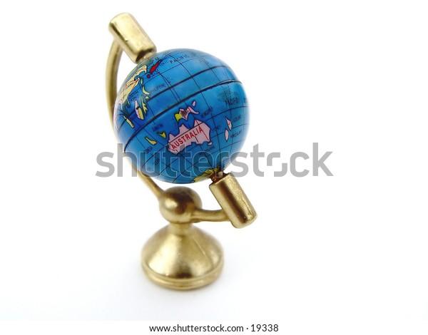 Globe of the world II isolated on white background