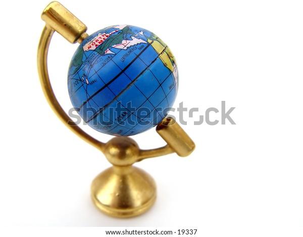 Globe of the world isolated on white background