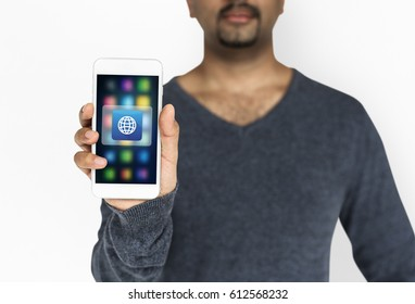 Globe World Website Application Vector Icon Graphic