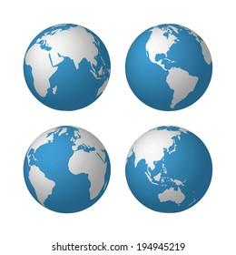 globes. Raster version