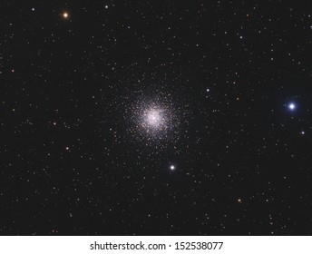Globular Cluster Messier 15: A globular cluster of stars about 33,000 light years away in the constellation Pegasus. This cluster contains about 100,000 stars and is about 12 billion years old.