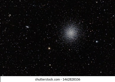 Globular star cluster,  Messier 13 or M13, also designated NGC 6205 and sometimes called the Great Globular Cluster in Hercules or the Hercules Globula