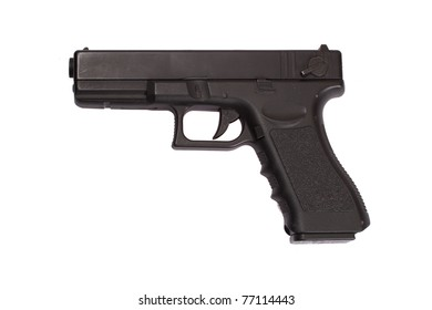 Glock automatic 9mm handgun pistol isolated on a white background