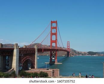 Gloden Gate Bridge is landmark in Sanfransico, USA