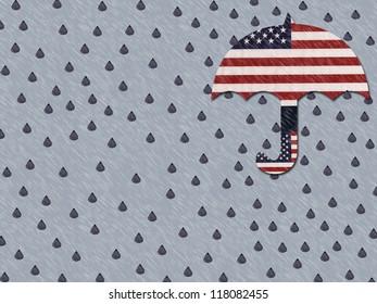 Gloomy background symbol of the future of America.