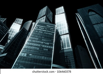 The gloomy city of skyscrapers - downtown