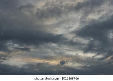 Gloomy cloud. Gloomy day.