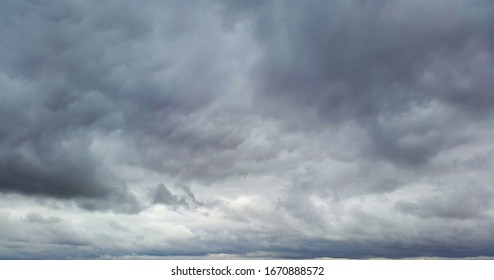 gloomy clouds on sky in autumn day