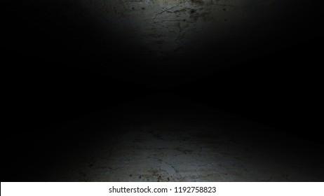 The gloomy corridor. Dark and gloomy, full of mysteries, the corridor 41