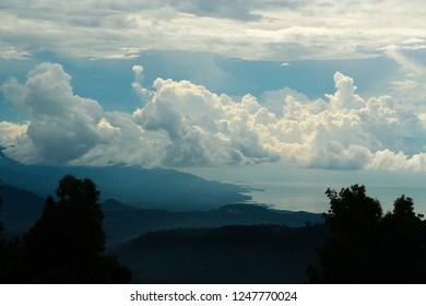 gloomy sky at coastline of Lombok