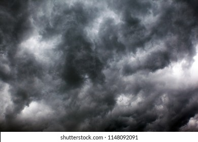 gloomy storm clouds, background, texture