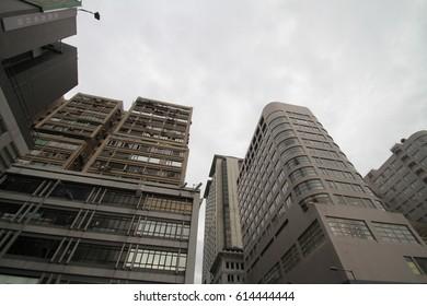 Gloomy weather building