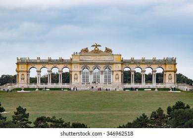 The Gloriette overlooking the Schoenbrunn Castle grounds