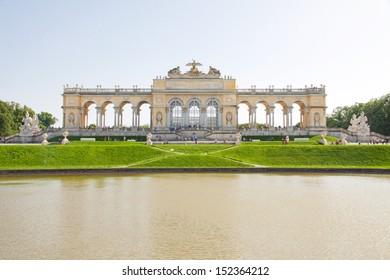Gloriette structure in Schonbrunn Palace, Vienna, Austria