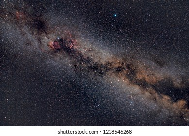The Glorious Northern Milky Way Through the Area of the Summer Triangle
