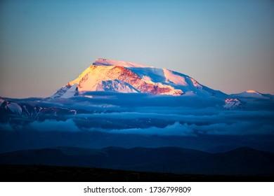 A glorious sunrise of Mt.Naimona Nyi