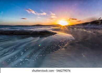 Glorious sunset at Emu Albany Beach, Albany, Western Australia