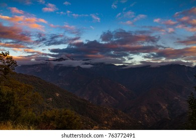 Glorious view of Sequoia National Park in the autumn at sunset.