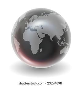 Glossy Crystal Earth Globe