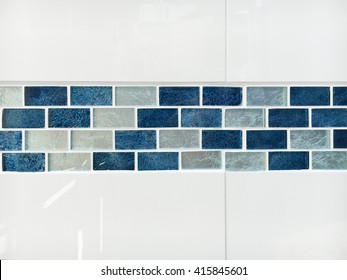 Glossy decorative bathroom tiles as a background