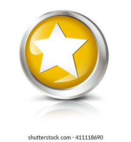 Glossy icon or button with star symbol.