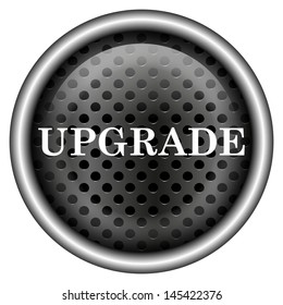 Glossy icon with white design on metallic background