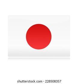 glossy japanese flag