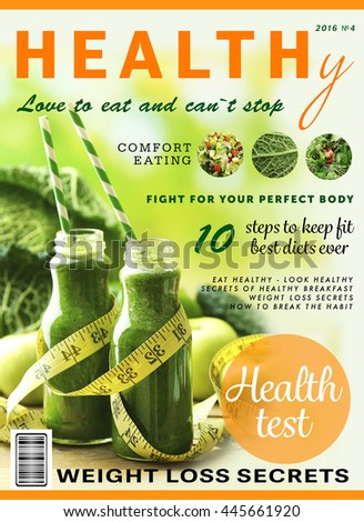 glossy magazine page healthy nutrition concept stock photo edit now