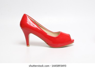 glossy red color ladies ballerina