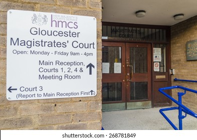 Gloucester, Gloucestershire - April 09 2015: City of Gloucester Magistrates Court building