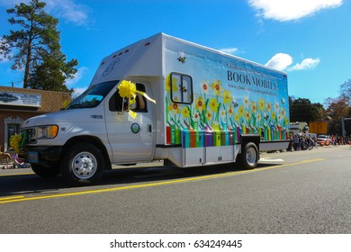 GLOUCESTER, VA - April 1, 2017: Gloucester County Public Library in the 31st annual Daffodil fest and parade, The Daffodil fest and Parade is a regular event each spring in April