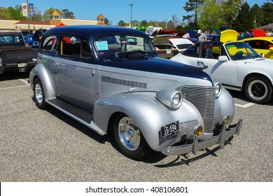 GLOUCESTER, VA - April 16, 2016: A 1939 Chevrolet at the Daffodil car show with different lighting, the Daffodil car show is held once each year after the Daffodil parade and festival.