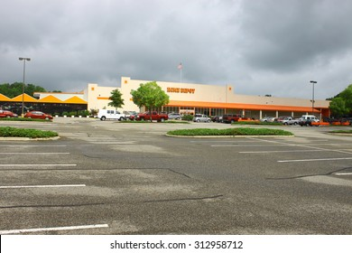 GLOUCESTER, VA - JULY 04 2015: The Home Depot is an American retailer of home improvement and construction products and services. The Home Depot was founded in 1978
