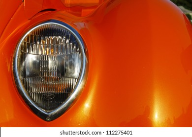 GLOUCESTER, VA- SEPTEMBER 7:A 1936 Ford tudor headlight at the 23rd Annual 2012 MPCC(middle peninsula car club)meeting at the Main St shopping center in Gloucester, Virginia on September 7, 2012.