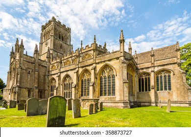 Gloucestershire, Cotswold, England,UK,Europe, Northleach the church of St Peter and St Paul lays claim to 12'th century origins. Part of the church dates back to at least the 12th century,