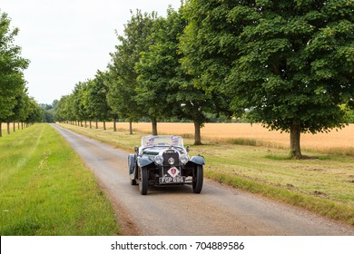 GLOUCESTERSHIRE, ENGLAND - JULY 13, 2017: A 1938 British Morgan 4-4 Series 1 competes on the 2017 RAC 1000 Mile Trial Rally for Pre War cars organised by the Historic Endurance Rallying Organisation