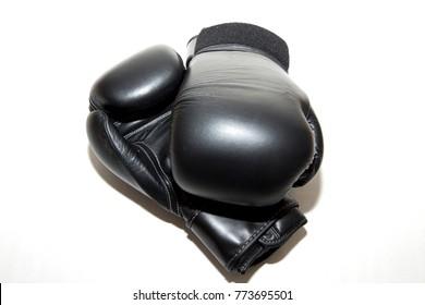 gloves and belt kickboxing
