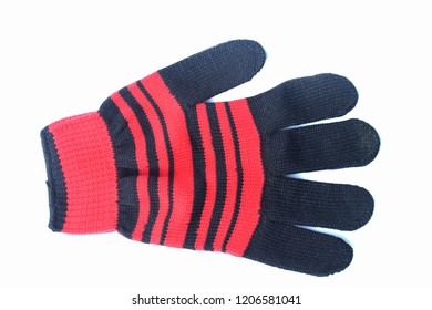 Gloves laid on a white background.