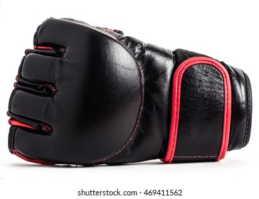 Gloves for MMA leather on a white background