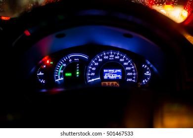Glow car dashboard