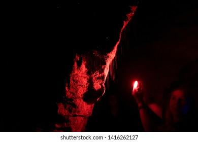 Glow worms in Ruakuri Cave, Waitomo New Zealand