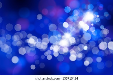 Glowing abstract blue background