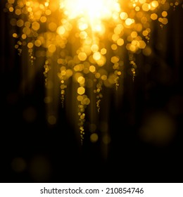 Glowing abstract golden background