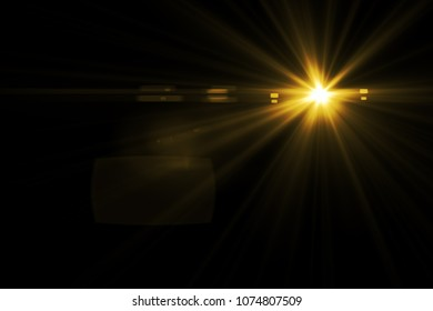 glowing abstract sun burst with digital lens flare.can your adjust the color of the light rays using adjustment layer like Gradient Selective Color, and create sunlight, optical flare