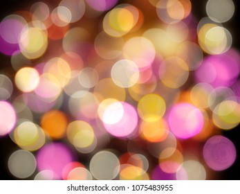 Glowing bright pastel blurred lights celebration or party abstract background