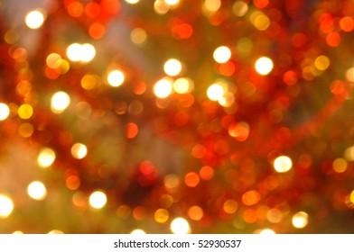 glowing Christmas lights