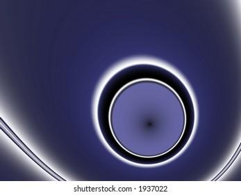 Glowing Circles on Deep Deep Blue - Illustration
