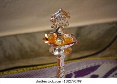 Glowing Deepam or Diya for Praying