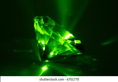 A Glowing Diamond Shaped Gem - Sapphire - Laser